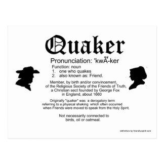 Definition of a Quaker Postcard