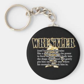 Definition of a Wrestler Basic Round Button Keychain