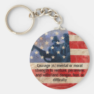 Definition of Courage Army Men Keychain