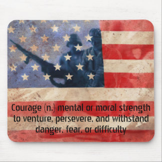 Definition of Courage Army Men Mouse Pad
