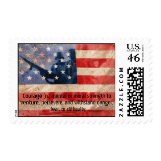Definition of Courage Army Men Postage