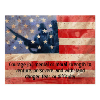 Definition of Courage Army Men Postcard