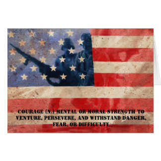 Definition of Courage Greeting Card