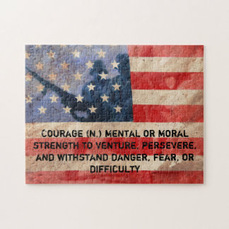 Definition of Courage Jigsaw Puzzle