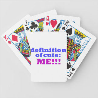 Definition of Cute Attitude Collection Bicycle Playing Cards