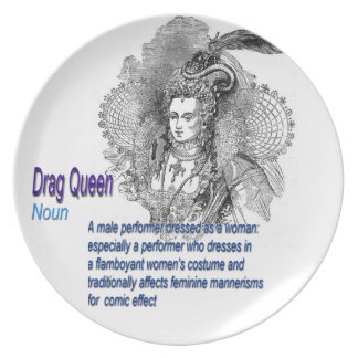 Definition of Drag Queen Melamine Plate