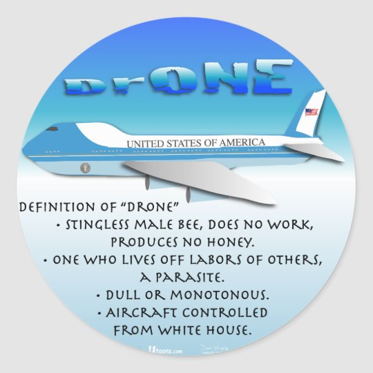 Definition of Drone Classic Round Sticker