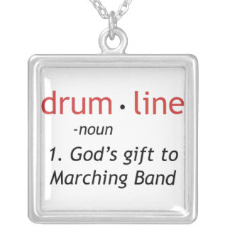 Definition of Drumline Silver Plated Necklace