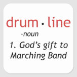 Definition of Drumline Square Stickers