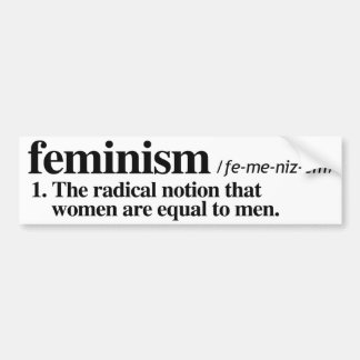 Definition of Feminism - Feminist Bumper Sticker -