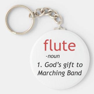 Definition of Flute Basic Round Button Keychain