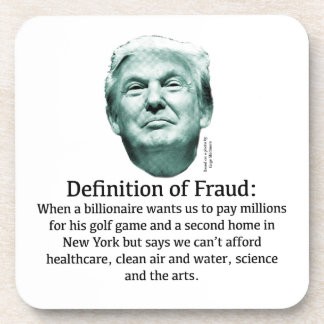 Definition of Fraud - TRUMP Drink Coaster