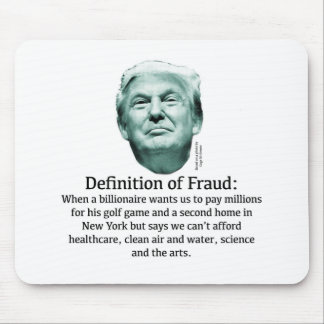 Definition of Fraud - TRUMP Mouse Pad