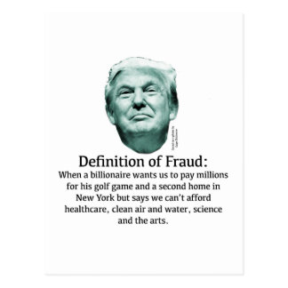 Definition of Fraud - TRUMP Postcard