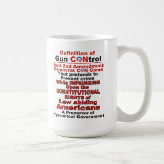 Definition of Gun CONtrol Mug for True Americans