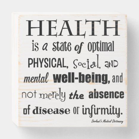 Definition of Health Chiropractic Wooden Box Sign