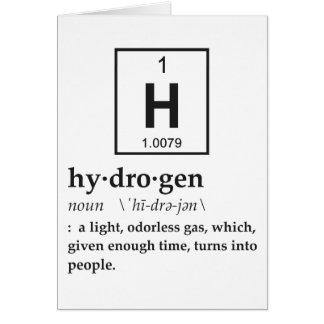 Definition of Hydrogen Greeting Card