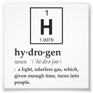 Definition of Hydrogen Art Photo
