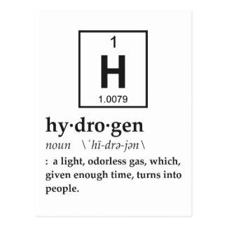Definition of Hydrogen Postcard