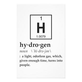 Definition of Hydrogen Stationery