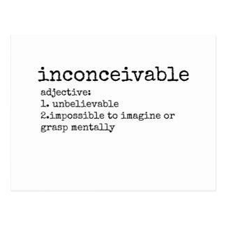 Definition of Inconceivable Print Postcard