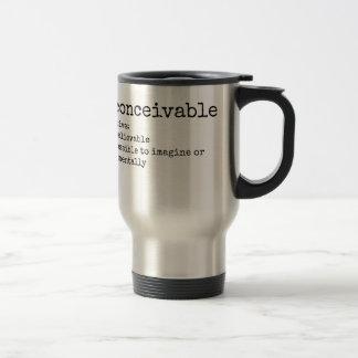 Definition of Inconceivable Print Travel Mug