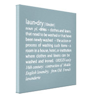 Definition of Laundry Crisp Blue & White Canvas Print
