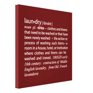 Definition of Laundry Crisp Red & White Canvas Print