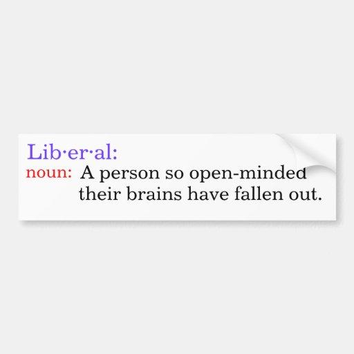 Definition Of Liberal Bumper Sticker Car Bumper Sticker