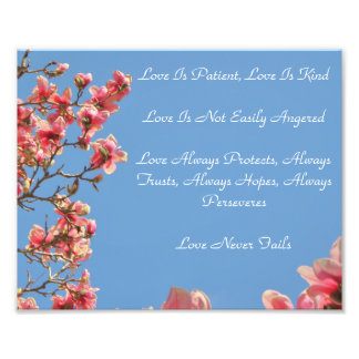 Definition of Love printed with Blossoms Photo Print