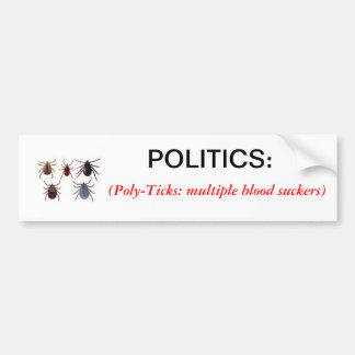 Definition of Politics Bumper Sticker