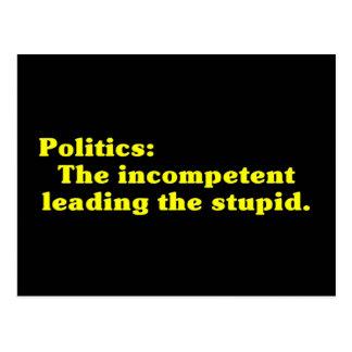 Definition of Politics Postcard