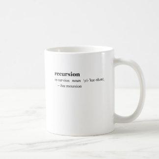 Definition of Recursion Classic White Coffee Mug
