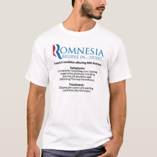Definition of Romnesia - Mitt Romney T-Shirt