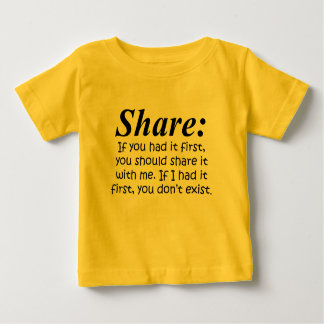 Definition of Share Baby T-Shirt