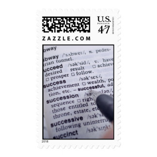 Definition of Success Pen Postage Stamps Vertical