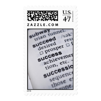 Definition of Success Postage Stamps Vertical