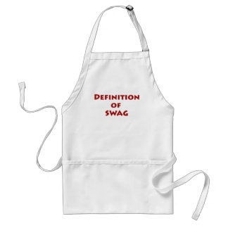 Definition of swag adult apron