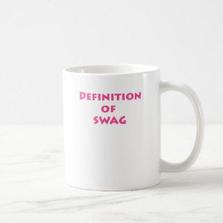 Definition of swag coffee mug
