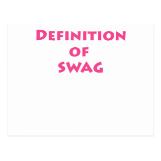 Definition of swag postcard