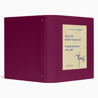 Definition of Wine 3 Ring Binders