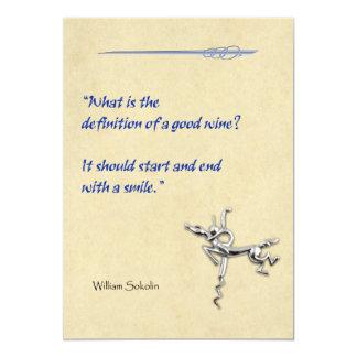 "Definition of Wine 5"" X 7"" Invitation Card"
