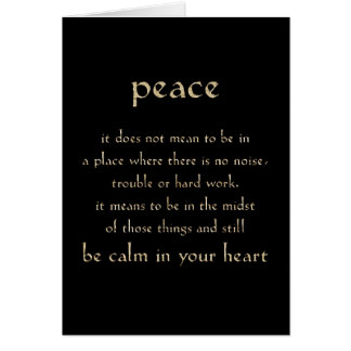 DEFINITION PEACE CALM HEART COMMENTS EXPRESSIONS S CARD