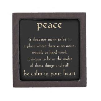 DEFINITION PEACE CALM HEART COMMENTS EXPRESSIONS S PREMIUM TRINKET BOX