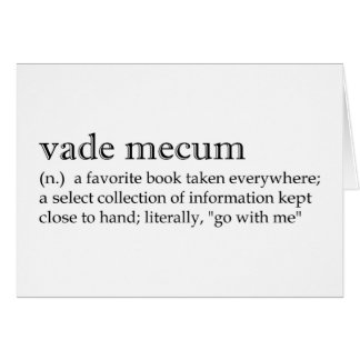 Definitions: Vade Mecum Card