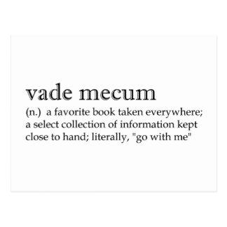 Definitions: Vade Mecum Postcard