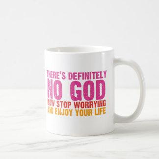 Definitivamente no hay dios (vertical) tazas de café
