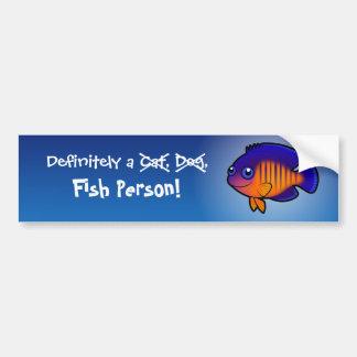 Definitivamente una persona de los pescados angel etiqueta de parachoque