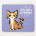 Definitivamente una persona del gato (diseñe su pr tapete de ratones