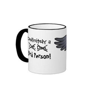 Definitivamente una persona del pájaro (gris afric tazas de café